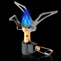Wholesale Outdoor Portable Folding Mini Camping Oven Gas Stove Survival Furnace Stove g W Pocket Picnic Cooking Gas Burner Cooker