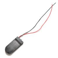 pil kutusu anahtarı toptan satış-5 Adet 2 * CR2032 3 V Düğme Hücre Para Pil Tutucu Kılıf Saklama Kutusu Ile 6 V Pil Paketi On-Off Anahtarı Tel Açar