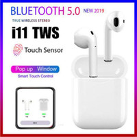Wholesale samsung window for sale - Group buy i11 TWS Wireless Bluetooth Headphones support pop up windows Earbuds with Charging Box Twins Mini Earbuds i11 touch SIRI blue box