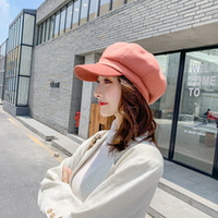 Wholesale sweet hats for sale - Group buy Women hat new fashion retro casual solid color cap sweet autumn and winter England style hot sell women hat vestidos WLZ003