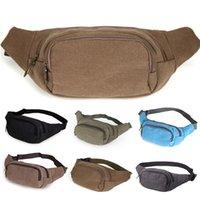 pacote quente portátil venda por atacado-High Capacity Unisex Canvas cintura Packs Bag Belt portátil Homens Mulheres cintura sacos Hot Venda de Alta Qualidade Fanny