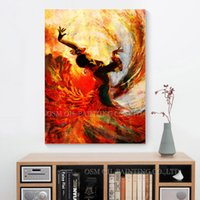 dansçılar petrol kanvas abstract toptan satış-Üst Sanatçı El Yapımı Yüksek Kalite Soyut İspanyol Dansçı Yağlıboya Tuval üzerine Dans Flamenko Dansçısı Sanat Resim Yağlıboya