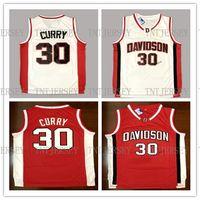 taille de curry achat en gros de-Pas cher en gros Steph Curry Davidson Collège Basketball Maillot Numéro 30 Taille S-XXL Livraison Gratuite