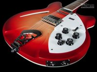 Wholesale 12 strings electric for sale - Deluxe RIC Fire Glo Cherry Sunburst Strings Electric Guitar Semi Hollow Body Gloss Varnish Fingerboard Two Output Jacks Knobs