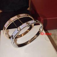 bracelet en diamant achat en gros de-Top Qualité Tous Les Étoiles Du Ciel Diamant Rose Or Argent Designer De Luxe Femmes Cadeau Cadeau Hommes Bracelet Bracelet Bracelets Bijoux