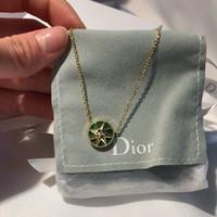 collares de turquesa al por mayor-collar de diseño joyería de diseño de lujo collar de mujer esmeralda 925 astilla turquesa collar de diamantes con caja original