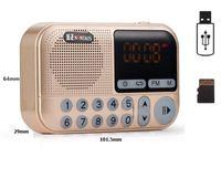 usb şarj edilebilir hoparlörler toptan satış-Cep Radyo FM Radyo Mini Taşınabilir Şarj Edilebilir Alıcı Hoparlör Desteği USB TF Kart Müzik MP3 Çalar Hediye için Eski Iyi