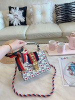 lacivert deri çantalar toptan satış-2019 Yeni sylvie donanma çanta Omuz Çantaları Deri Çanta Cüzdan Kadınlar Için Yüksek Kalite Çanta Tasarımcısı Tote Messenger Çanta CrossBody