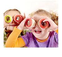 ingrosso giocattolo di occhio di api di legno-Caleidoscopio magico educativo di legno Bambino Kid Bambini che imparano il giocattolo di puzzle Magic Bee Eye Regali per bambini Paty Favor
