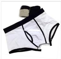 maiúsculos brancos mais apertados venda por atacado-Cuecas masculinas calcinhas de algodão calcinha confortável respirável calcinha dos homens cueca shorts Homem boxer 365