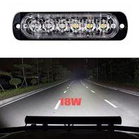 красная лампочка белого цвета оптовых-2X6LED 18W Spot LED Мигающий свет Рабочий Бар дальнего света для внедорожников SUV Авто Лодка Грузовик Сигнальная лампа Spot LED Light