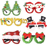 Wholesale Christmas Glitter Party Glasses Christmas Decoration Costume Eyeglasses Party Glasses Frame for Holiday Favors Assorted Styles