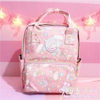 Wholesale cute schoolbags resale online - Cartoon Cute Genuine Little Twin Stars Backpack Children School Bag Primary Schoolbags little Twin Stars Travel Bag for Girls