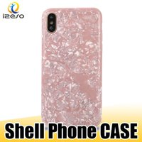Wholesale iphone plus case for girl 3d for sale – best Shell Pattern Case for iPhone XS MAX XR X Plus Soft TPU D Shinny Back Cover for Fashion Girls