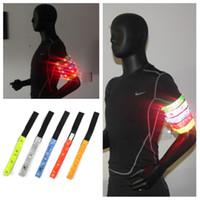 braçadeiras reflexivas levou luzes venda por atacado-Nova Segurança reflexiva multi-color braçadeira iluminação LED em execução, ciclismo, caminhada, braçadeira braçadeira reflexiva novidade T2I5128