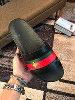 plat large achat en gros de-Nouveau Arriver Hommes Femmes Sandales Designer Chaussures De Luxe Slide D'été Mode Large Plat Sandales Glissantes Slipper Bascule Avec Boîte Taille 35-46