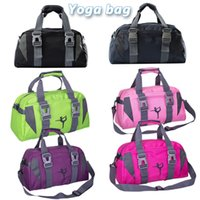 Wholesale dyed clothes pink online - Yoga Fitness Bag Waterproof Nylon Training Shoulder Crossbody Sport Bag For Women Fitness Travel Duffel Clothes Gym Bags