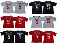 jerseys de futebol frete grátis venda por atacado-Homens NCAA Texas Tech Red Raiders Jersey 5 Patrick Mahomes camisas de futebol da faculdade de alta qualidade em estoque frete grátis