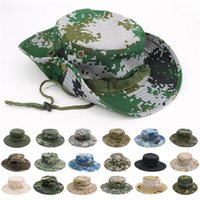yuvarlak balık toptan satış-Summer outdoor sport camouflage hat hat Round edge sunshade hat Sunscreen fishing cap Party HatsT9I00326