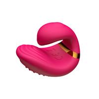 anillos de dedo vibrador al por mayor-USB recargable a prueba de agua de silicona erótica para parejas amor anillo dedo clítoris vibrador