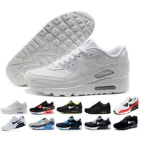 size 40 37157 765fc nike air max 90 airmax Casual Mens Shoes classique 90 Hommes et femme Chaussures  Noir Rouge Blanc Trainer Air Cushion Surface Respirant Casual Chaussures ...