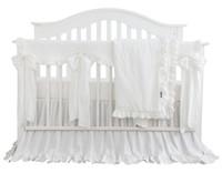 ingrosso set di culla per neonati rosa-Blush Coral Pink Ruffle Crib Bedding Set Neonata Bedding Blanket foglio Nursery Crib Skirt Set Baby Girl