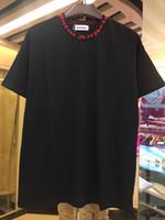 ingrosso oversize t-shirt bianche-2019 T-shirt Palm Angels Bianco Nero Lettere Stampa T-shirt estiva Uomo Donna T-Shirt oversize Hip Hop Street Tops Nero Bianco