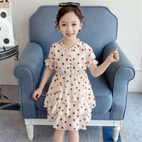 vestido caliente de niña coreana al por mayor-Madre de moda Venta caliente Ropa de niña Falda de princesa de gasa de niña Vestir olas coreanas para bebés