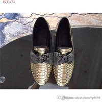 Wholesale gold glitter low heels for sale - Group buy Latest Ladies fashion leather sequins water drill low top low heel loafers Bow knot slip for lazy driving shoes With box size