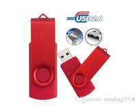kalem sürücü markaları toptan satış-Marka Yeni Tasarım USB Flash Sürücüler Döner Harici Kalem Sürücü 64 GB Yaratıcı Pendrive