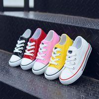 ingrosso barche di gomma di alta qualità-Scarpe per bambini tela bambino Sneakers Scarpe da calcio per il tempo libero traspiranti bambini maschietti scarpe basse 5 colori B11