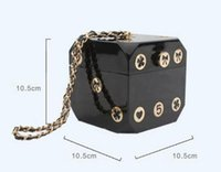 Wholesale cell phone collection resale online - Perfect design Precious gift bags Camellia Collection gift Box Valuable dice handbags Women Fine party bag Gorgeous shoulder bag