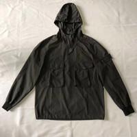ingrosso nero secco-Giacca antivento SI giacca da uomo casual felpe con cappuccio giacca da jogging in pietra nera di alta qualità taglia M-XXL