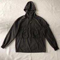 jaqueta jogging homem venda por atacado-SI blusão ao ar livre jaqueta casual homens hoodies de alta qualidade preto SI jaqueta de pedra de jogging terno tamanho M-XXL