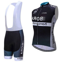 chaleco de ciclismo negro al por mayor-Bora Pro Team Cycling Vest Mtb Ropa Ciclismo Jerseys de ciclismo Tops Bib Ninguno Bib Shorts Size Xs-4xl Black Bike Wear