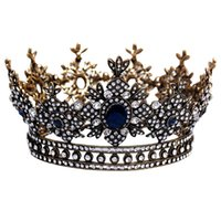 Wholesale coronet costume for sale - Group buy Baroque Queen Crown For Women Small Round Crown For Pageant Photograph Theater Party Royal Medieval Coronet And Scepter Costume