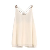 ingrosso camicie calde backless-KLV # ZG4 NEW HOT FASHION 2019 Nave libera donne senza maniche Crop Tops Canotta Backless Halter Canotte Camicetta T-Shirt