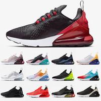 spor ayakkabıları siyah toptan satış-2019 Nike Air Max 270 Vapormax Bred Volt erkek eğitmenler pembe Barely Gül Regency Mor beyaz tasarımcı için siyah beyaz mesh nefes koşu ayakkabıları tasarımcı sneaker 36-45