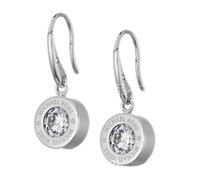 designer-schmuck großhandel-New York Designer Ohrringe Mode Kristall Tropfen Ohrringe mit Logo Große Diamant Legierung Schmuck Günstige Berühmte Designer Schmuck