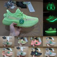 x golf toptan satış-Stok X Glow Yeşil Antlia Lundmark Siyah 3 M Tüm Yansıtıcı Koşu Ayakkabıları Kanye Citrin Bulut Beyaz Tasarımcı Sneakers Eğitmenler Boyutu 13 Rahat