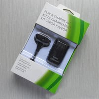 xbox ücret kiti toptan satış-Kablosuz Kolu Pil Paketi 2in1 XBOX 360 K5100 için Şarj Kiti 4800 M Pil Paketi