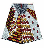 ingrosso tessuto africano cera holland-Tessuto della stampa africana 6 yard / lot per il vestito la cera dell'Olanda dell'Olanda Stampa il materiale di alta lana del tessuto di Hollandais di alta qualità africano