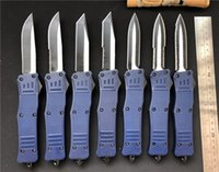 Wholesale tactical combat survival gear for sale - Group buy 2019 Dark Blue A161 dual action auto Tactical Knife blade styles Combat EDC Camping gear Survival Knife A163 Large Knives P54Q