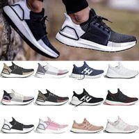 kadınlar için tasarımcı markası ayakkabı toptan satış-36-47 adidas ultraboost Ultra boost 19 Marka Koşu Ayakkabıları Erkek Kadın Tasarımcı Sneakers Siyah Çok Renkli beyaz Panda Oreo Gerçek Pembe Ultraboost Spor Ayakkabı