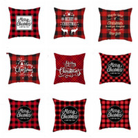 Wholesale couch decor for sale - Group buy Christmas Pillow Covers Plaid Elk Throw Pillow Case Linen Decorative Pillowcase Sofa Couch Cushion Cover Christmas Decor Designs BZYQ6326