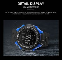 Wholesale cool black watches for men resale online - luxury Watch for Men Bar Waterproof SMAEL Watch S Shock Resist Cool Big Men Watches Sport Military LED Digital Wrsitwatches SMAEL