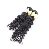 saç uzantıları kıvırcık dalga toptan satış-2 Paketler Derin Dalga İnsan Saç Doğal Siyah Ham Hint Kıvırcık İnsan Saç Uzantıları% 100 İşlenmemiş Saç Uzatma Fiyatları