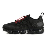 ingrosso cime di badminton-Nike Air Vapormax Run Utility Top Quality Run Utility Black Reflect Silver Scarpe da corsa da uomo Triple White Medium Olive Uomo Scarpe da ginnastica sportive