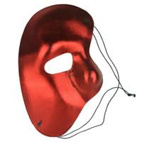 máscaras faciales de ópera fantasma al por mayor-cariel 20pc media máscara facial Phantom of the Opera - mitad derecha de la máscara facial de fiesta envío gratis H53B
