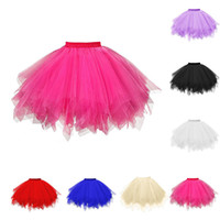 Wholesale black ball gowns adult for sale - Group buy Womens High Quality Pleated Gauze Short Skirt Adult Tutu Dancing Skirt Grenadine Bust Bubble vetement femme F